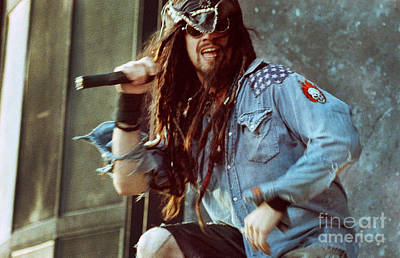 Concert Photograph - White Zombie 93-rob-0352 by Timothy Bischoff