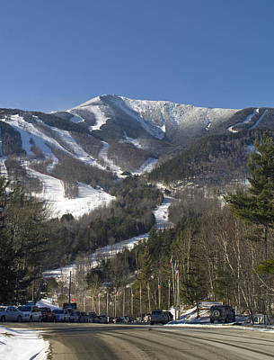 Whiteface Ski Mountain From The Road In Upstate New York Near Lake Placid Print by Brendan Reals