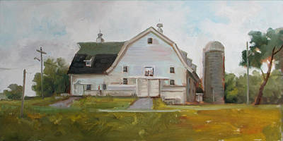 Whitehouse Painting - Whitehouse Dairy Barn by Nora Sallows