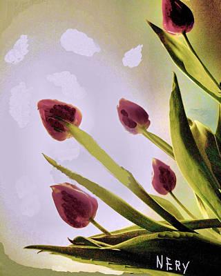 Ling Painting - Whizz Ling Tulips by Nereida Slesarchik Cedeno Wilcoxon