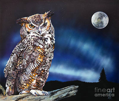 Who Doesn't Love The Night Print by J W Baker