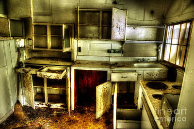 Abandoned Homes Photograph - Who Left The Cupboard Doors Open by Michael Eingle