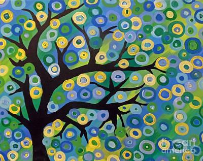 Abstract Handbag Painting - Who Needs Leaves by Jilian Cramb - AMothersFineArt
