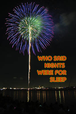 Sleep Painting - Who Said Nights Were For Sleep Poster by Celestial Images