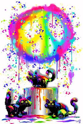 Kitten Digital Art - Who Us Again  by Nick Gustafson