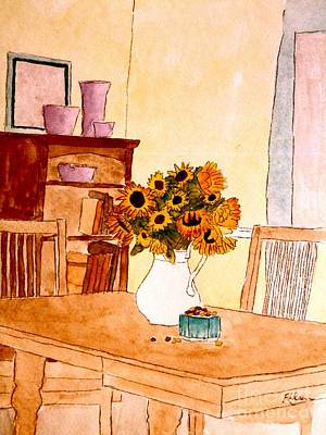 Interior Scene Painting - Who's Been In The Candy Dish by Eileen Tascioglu