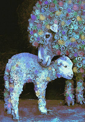 Sheep Digital Art - Whose Little Lamb Are You? by Jane Schnetlage