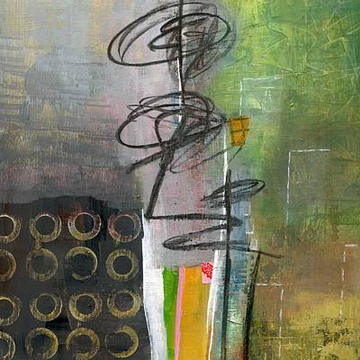 Abstract Collage Painting - Why Are You Here? by Shuya Cheng