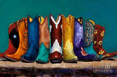 Cowgirls Painting - Why Real Men Want To Be Cowboys 2 by Frances Marino
