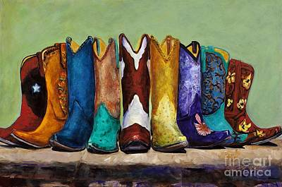 Cowgirls Painting - Why Real Men Want To Be Cowboys by Frances Marino