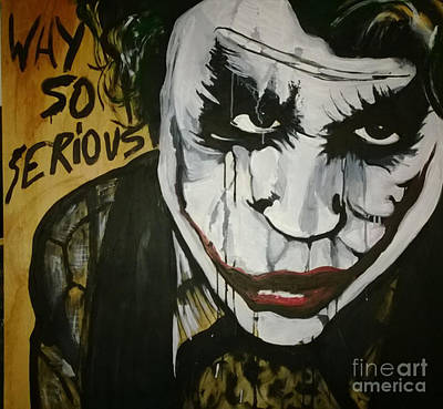Heath Ledger Painting - Why So Serious by Eisen Laucik