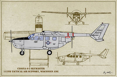 Digital Art - Wi Ang Skymaster Profile by Tommy Anderson