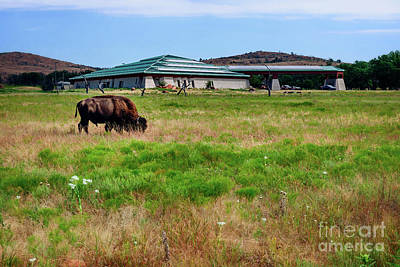 Wichita Mountain Wildlife Reserve Welcome Center I Print by Tamyra Ayles