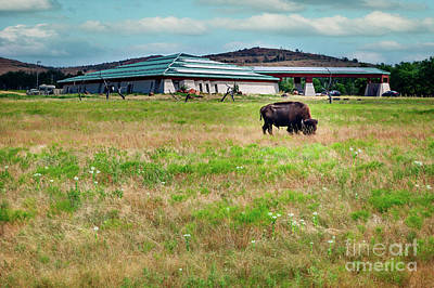 Wichita Mountain Wildlife Reserve Welcome Center II Print by Tamyra Ayles
