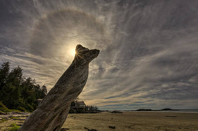 Colombia Photograph - Wickaninnish Beach Sun Halo by Mark Kiver