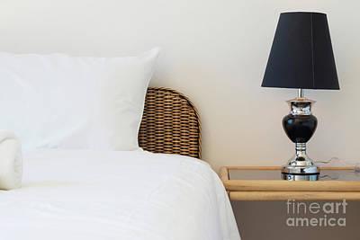 Wicker Rattan Bed Print by Atiketta Sangasaeng