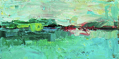 Wide Abstract I Print by Becky Kim