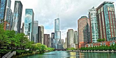 Photograph - Wide Angle Of The Windy City by Frozen in Time Fine Art Photography