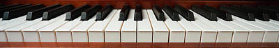 Keyboards Photograph - Wide Piano Keyboard by Garry Gay