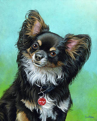 Widget The Chihuahua Print by Cara Bevan
