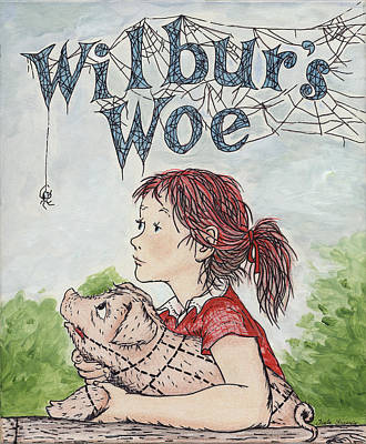 Rights Painting - Wilbur's Woe by Twyla Francois