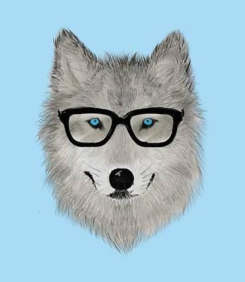 Wild Animal With Glasses - V02 Print by David Ardil