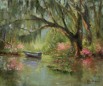 Spanish Moss Painting - Wild Azaleas by Jane Woodward