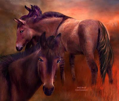Donkey Mixed Media - Wild Breed by Carol Cavalaris