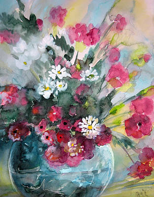 Art Miki Painting - Wild Flowers Bouquet 01 by Miki De Goodaboom