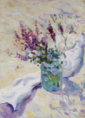 Schizzo Painting - Wild Flowers Schizzo by Andrey Katerinyuk