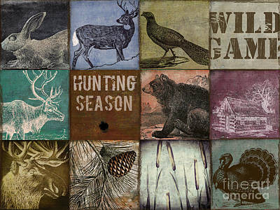 Wild Turkey Painting - Wild Game Patchwork by Mindy Sommers