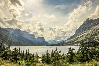 Mountain Photograph - Wild Goose Island // Glacier National Park  by Nicholas Parker