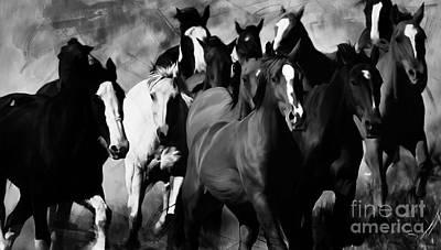 Horses Painting - Wild Horses by Gull G
