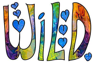 Chakra Rainbow Drawing - Wild Rainbows Abstract Word Art By Omaste Witkowski by Omaste Witkowski