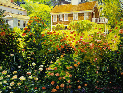 Shadows Painting - Wild Rose Country by David Lloyd Glover