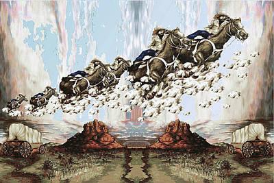 Wild West Sky Riders - Western Art Print by Art America Online Gallery