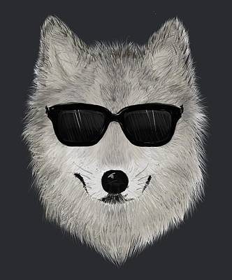 Wild Wolf From 80s - V01 Print by David Ardil