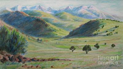 Pasture Scenes Drawing - Wilderness Of Utah by Jeanette Skeem
