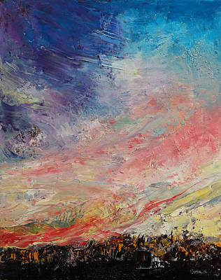 Impasto Oil Painting - Wildfire by Michael Creese