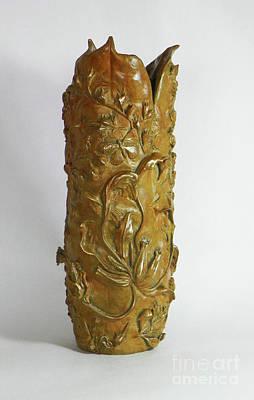 Wildflower Promise - Bronze Vase Original by Dawn Senior-Trask