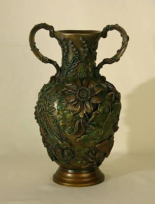 Wildflower Vase Balsamroot Side Print by Dawn Senior-Trask