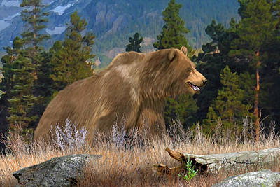 Animals Painting - Wildlife Art - Grizzly Bear by Dale Kunkel Art