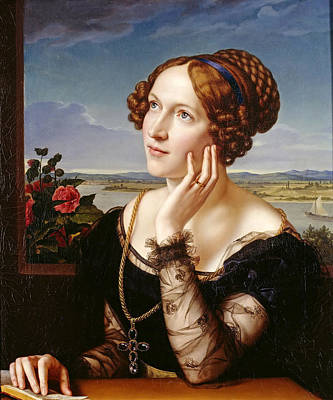 Painting - Wilhelmine Begas. The Artists Wife by Carl Joseph Begas