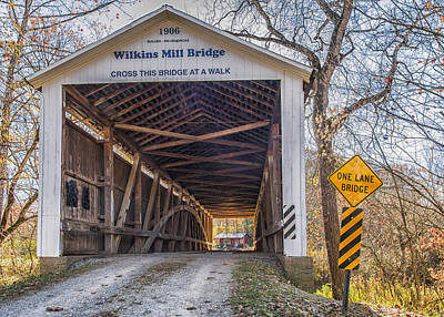 Rockville Photograph - Wilkins Mill Covered Bridge by Alan Toepfer