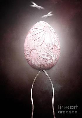 Egg Mixed Media - Prevail II by Jacky Gerritsen