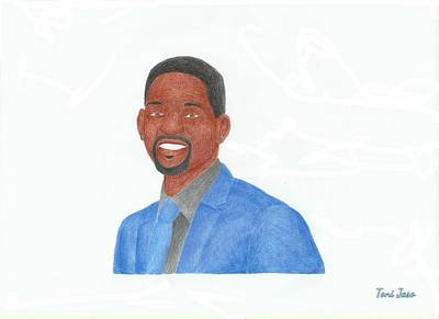 I Am Legend Drawing - Will Smith by Toni Jaso