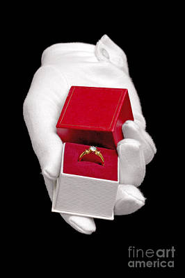 Diamond Engagement Ring Photograph - Will You Marry Me by Richard Thomas
