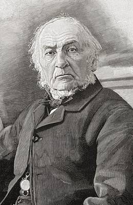 Prime Drawing - William Ewart Gladstone, 1809 To 1898 by Vintage Design Pics