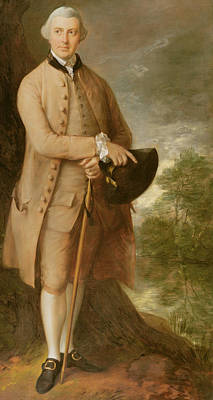 Costumed Figures In Landscape Painting - William Johnstone Pulteney by Thomas Gainsborough