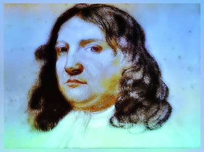 William Penn Digital Art - William Penn Portrait by Bill Cannon